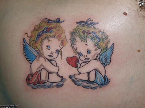 gallery fairies and angels tattoos. Black Bedroom Furniture Sets. Home Design Ideas