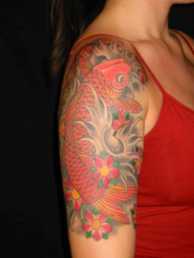 Japanese koi fish tattoos for Koi fish meaning tattoo