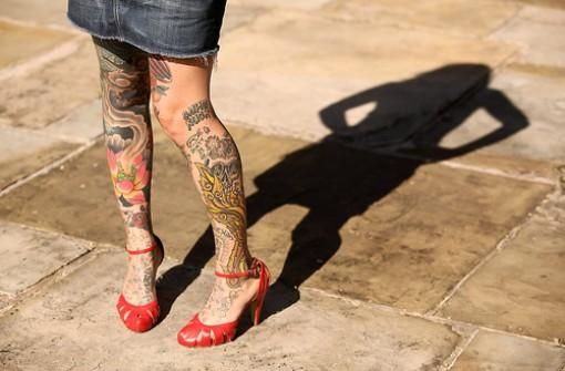 Girl Leg Tattoo Designs