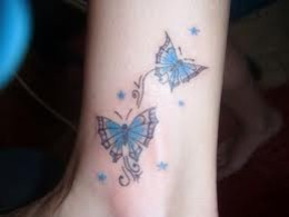 Butterfly Tattoo Designs for Women On the Ankle