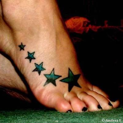 Tattooed Women Feet Naked