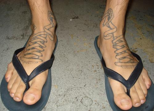 Men ankle tattoos ideas cool ankle tattoo designs for men for Mens foot tattoos