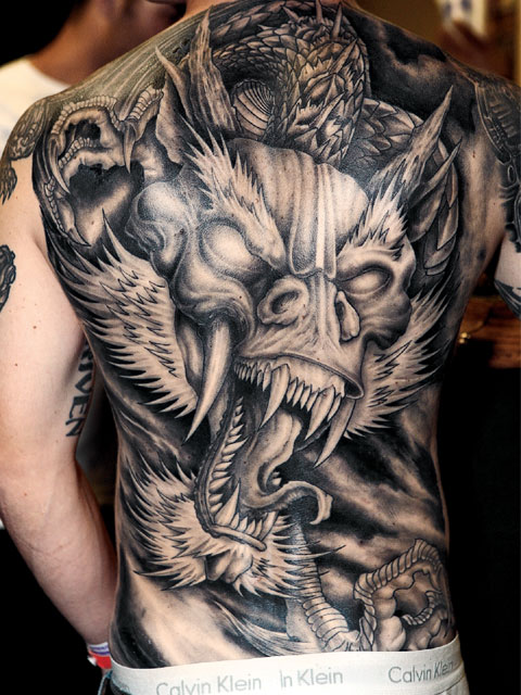 Dragon Tattoo on Shoulder, Dragon Tattoo on Back, Dragon Tattoo on Arm