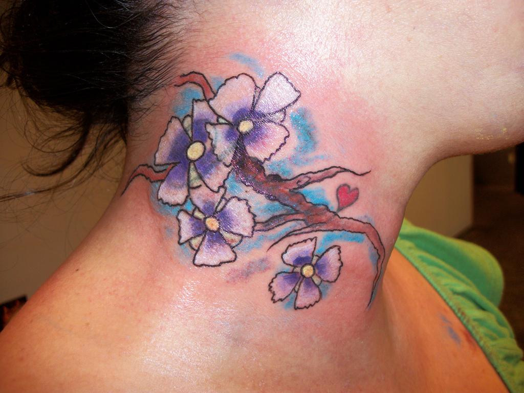 neck tattoos for pictures meaning designs