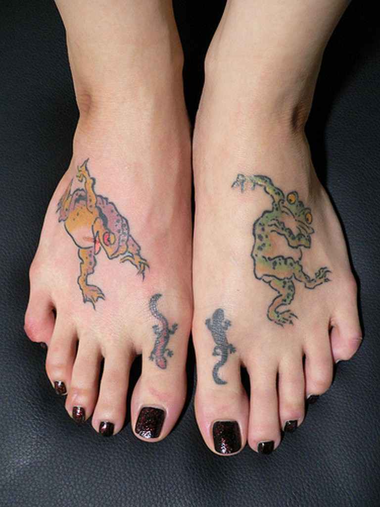 Foot tattoo ideas for Tattoo on the foot