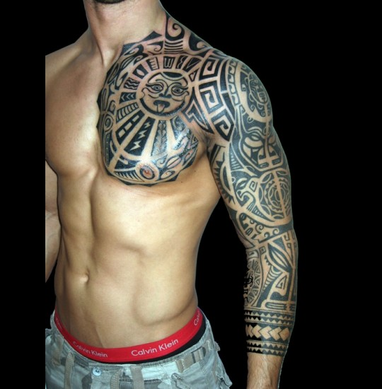 Hawaiian Tribal Arm Tattoo