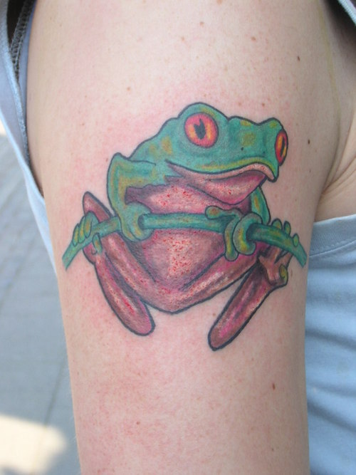 Tree frog tattoos for Celtic frog tattoo designs