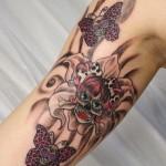 Girly-Butterfly-Skull-Tattoos-3
