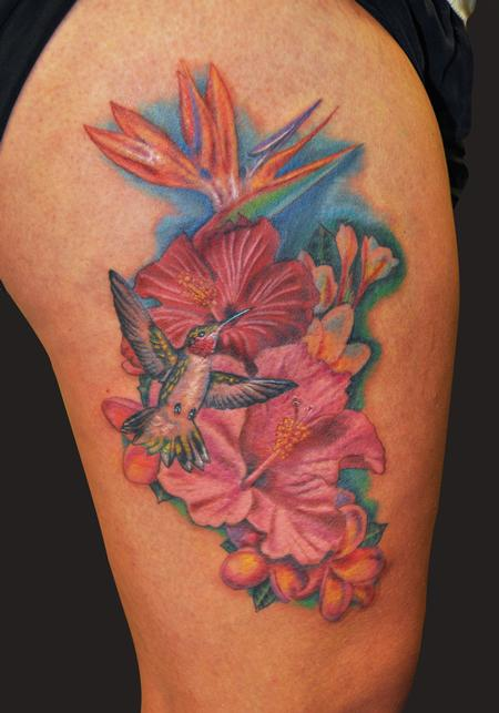 hawaiian flower tattoos. Black Bedroom Furniture Sets. Home Design Ideas