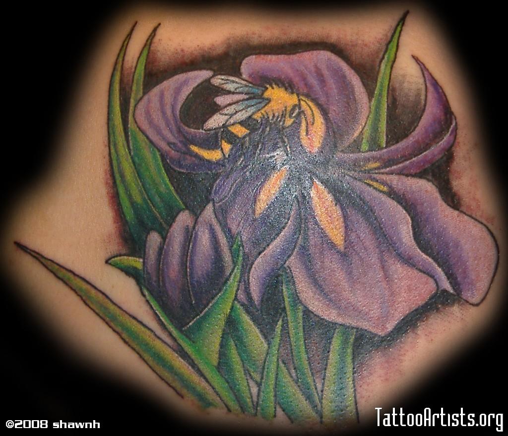 Iris Flower Tattoo Iris Tattoos6 Iris Tattoos