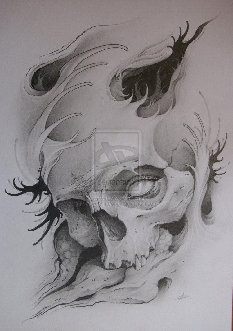 moth simeonov skull tattoo. Black Bedroom Furniture Sets. Home Design Ideas