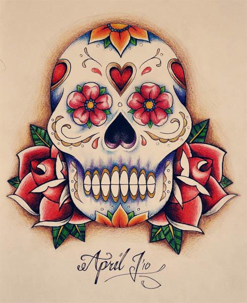 scarlett sugar skull tattoo. Black Bedroom Furniture Sets. Home Design Ideas