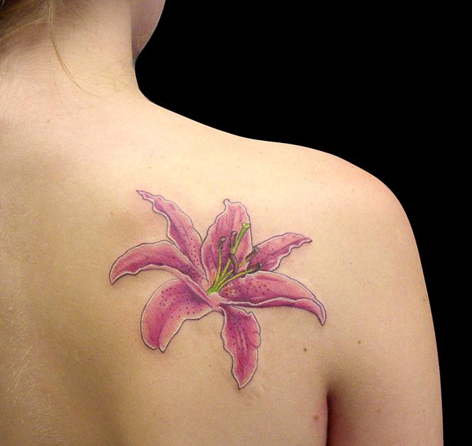 Stargazer Lily Flower Tattoo Designs: Stargazer-Lily-Tattoos8