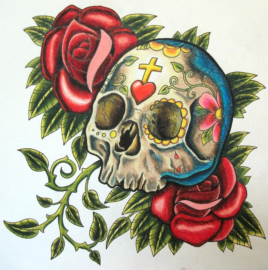 sugar design skull tattoosugar design skull tattoo. Black Bedroom Furniture Sets. Home Design Ideas