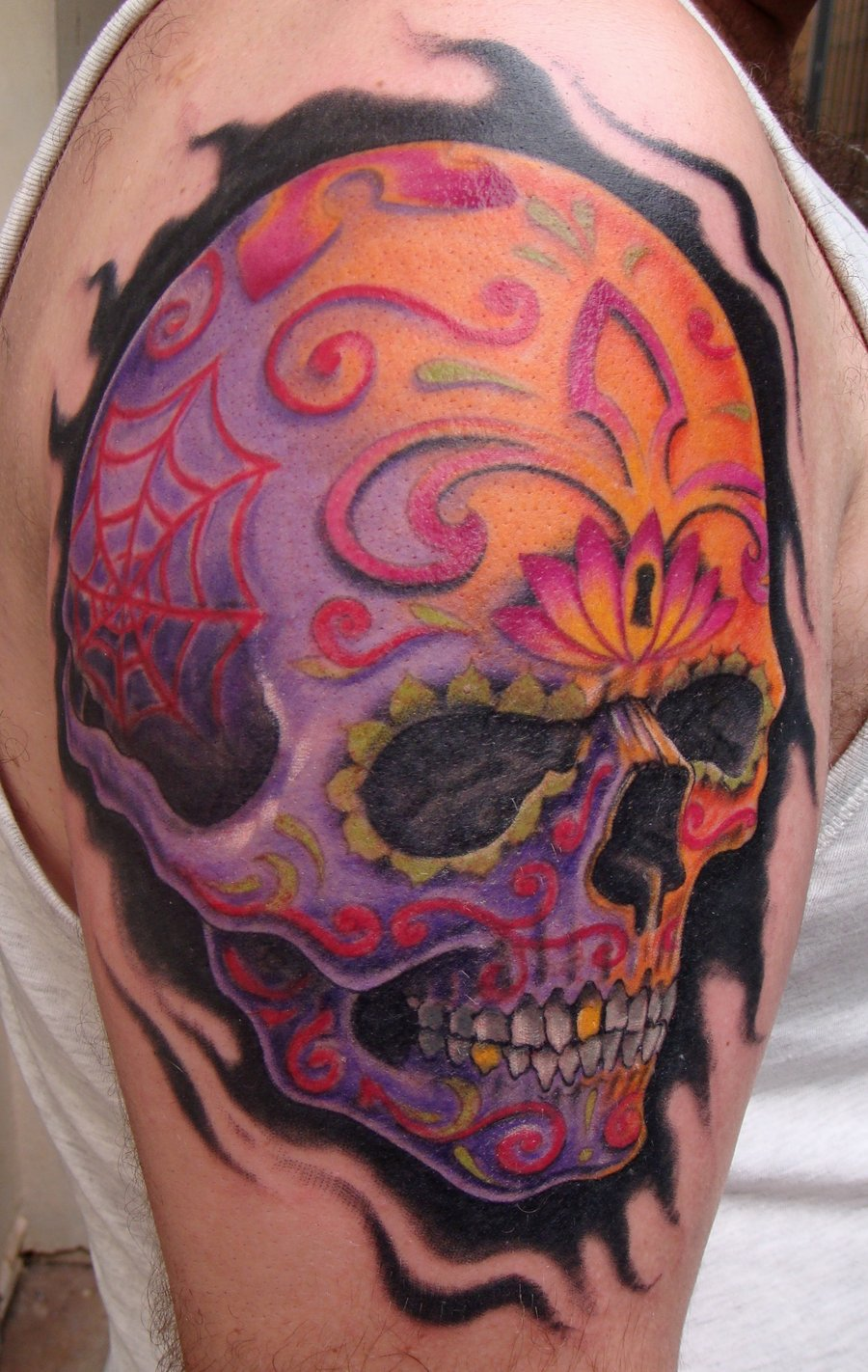 Sugar design skull tattoosugar design skull tattoo for Design your tattoo