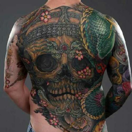 tibetan idea skull tattoo