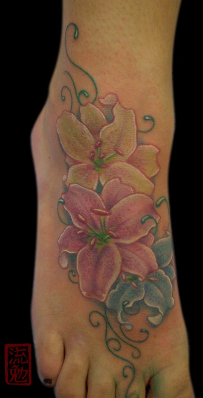 Tiger lily tattoos6 tattoo designs ideas meaning for Tiger lilly tattoos