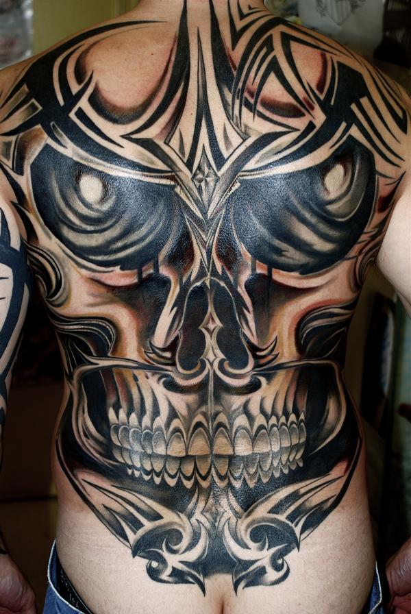 Tribal Death Tattoo: Tribal Skull Tattoos