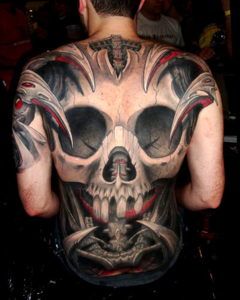 tattoo on the tribal designs back Skull back Tribal Tattoos