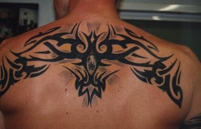 Tribal Upper Back Tattoo Designs