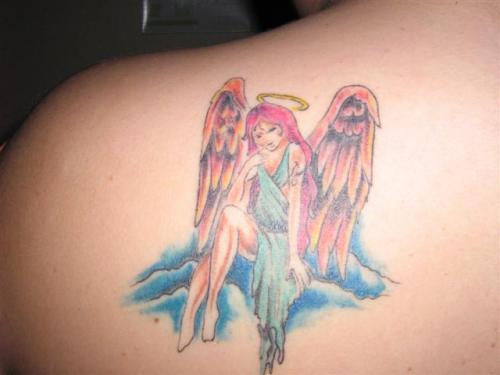 guardian angel tattoo designs. Black Bedroom Furniture Sets. Home Design Ideas