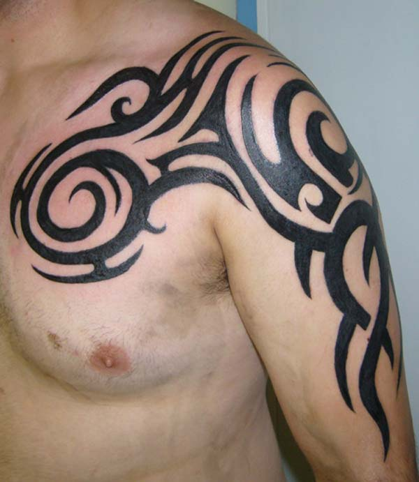 tribal shoulder tattoo design,men tribal shoulder tattoos,men tribal tattoo designs for shoulder,men shoulder tribal tattoos