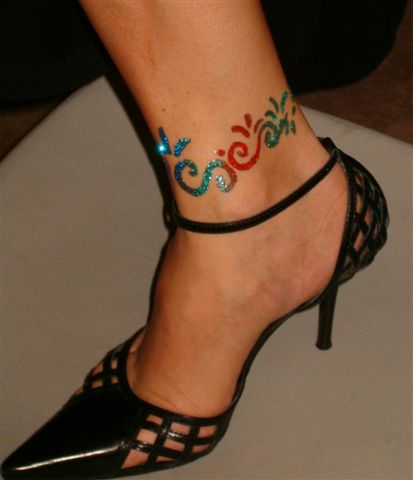Foot ankle tattoos for Tattoo on ankle
