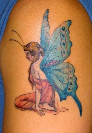 angel tattoo designs for women female angel tattoos meanings. Black Bedroom Furniture Sets. Home Design Ideas