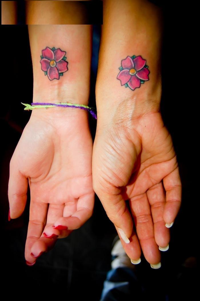 Friendship Tattoo Designs-Flower Friendship Tattoos