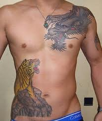 Men Rib Cage Tattoo Designs