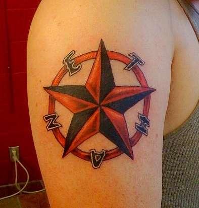 3d star tattoo designs for girls. Black Bedroom Furniture Sets. Home Design Ideas