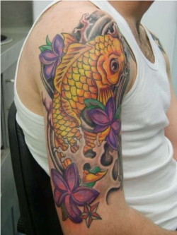 japanese koi fish tattoos, japanese koi fish tattoos meanings, koi fish sleeve, men koi fish sleeve tattoos,