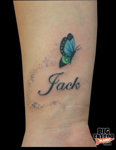 A Butterfly Tattoo On Wrist Designs Tattooing Tattoos