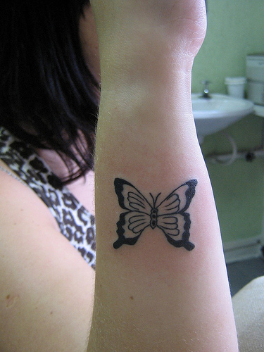 A Butterfly Tattoo On Wrist Gallary Meaning Tumblr