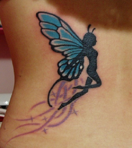 Butterfly fairy tattoo pictures meaning designs for Butterfly tattoos gallery