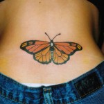 Butterfly Tattoo on Hip Designs, tattoo designs, tattooing, tattoos, designs, piercing, ink, pictures, images, Butterfly Tattoo on Hip