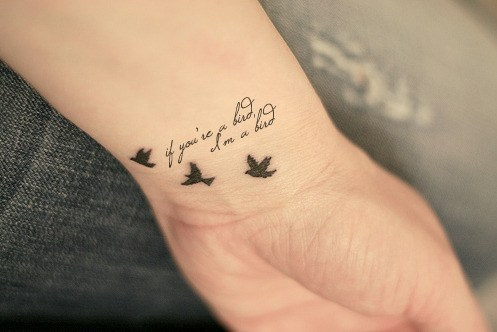 popular cute tattoo quotes with image gallery ideas. Black Bedroom Furniture Sets. Home Design Ideas