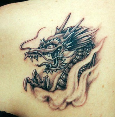 Dragon Tattoo on Shoulder, Dragon Tattoo on Back, Dragon Tattoo on Arm