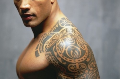 dwayne johnson the rock body tattoo