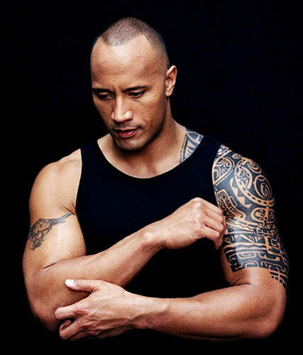 Dwayne Johnson (The Rock) Body Tattoo