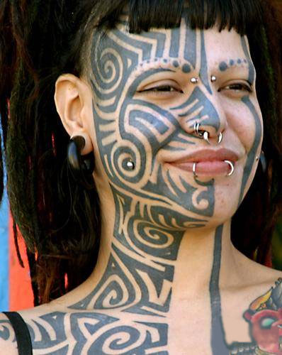 Face Tattoos, Face, Tate, tattoo designs, tattooing, tattoos, designs, piercing, ink, pictures, images