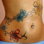 Feminine Flower Tattoo, Hawaiian Flower Tattoo, Common flower Tattoo