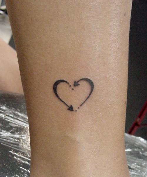 Heart tattoo design gallery meaning ideas for Heartbeat design