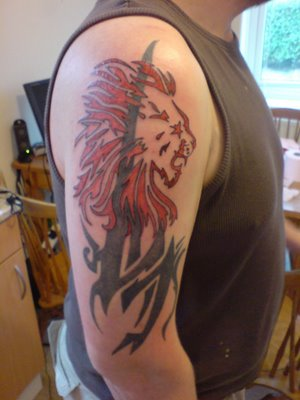 Top 10 most popular types of tattoos image gallery for Lion skull tattoo