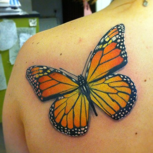 monarch butterfly tattoo design meaning pictures. Black Bedroom Furniture Sets. Home Design Ideas