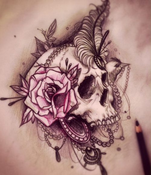 Sugar Skull Tattoo, Skull Tattoo, Skull tattoo for Guys