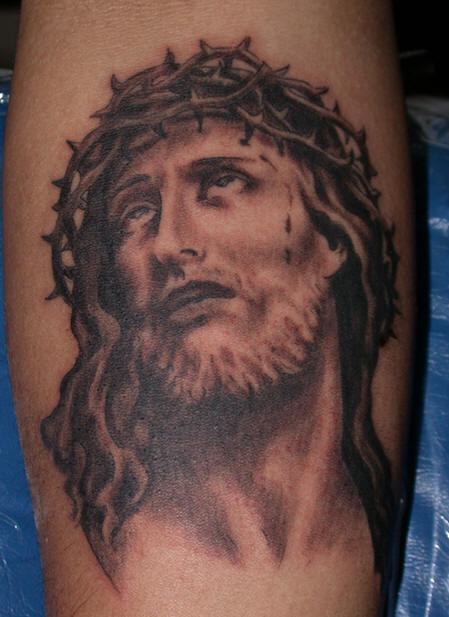 jesus tattoo designs. Black Bedroom Furniture Sets. Home Design Ideas