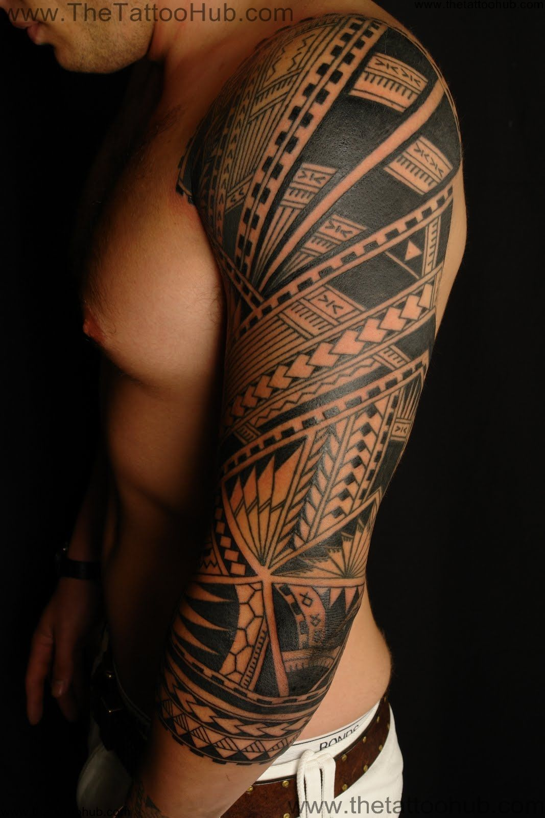 Polynesian tribal tattoos for Tribal body tattoo