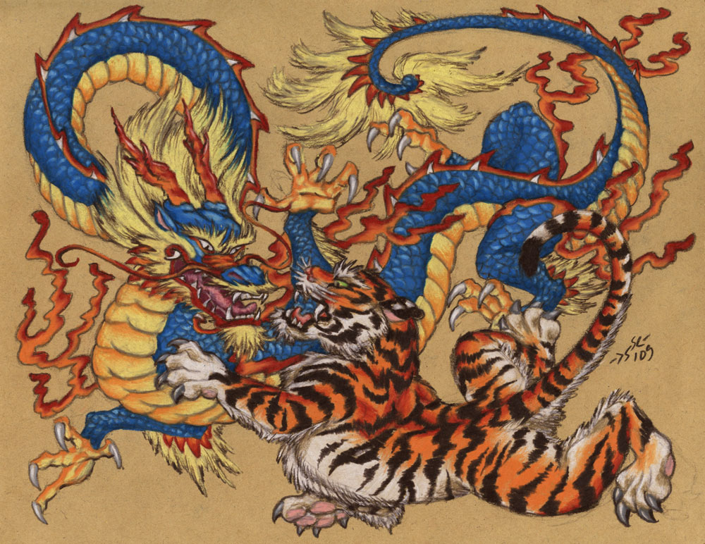 Tiger And Dragon Tattoos