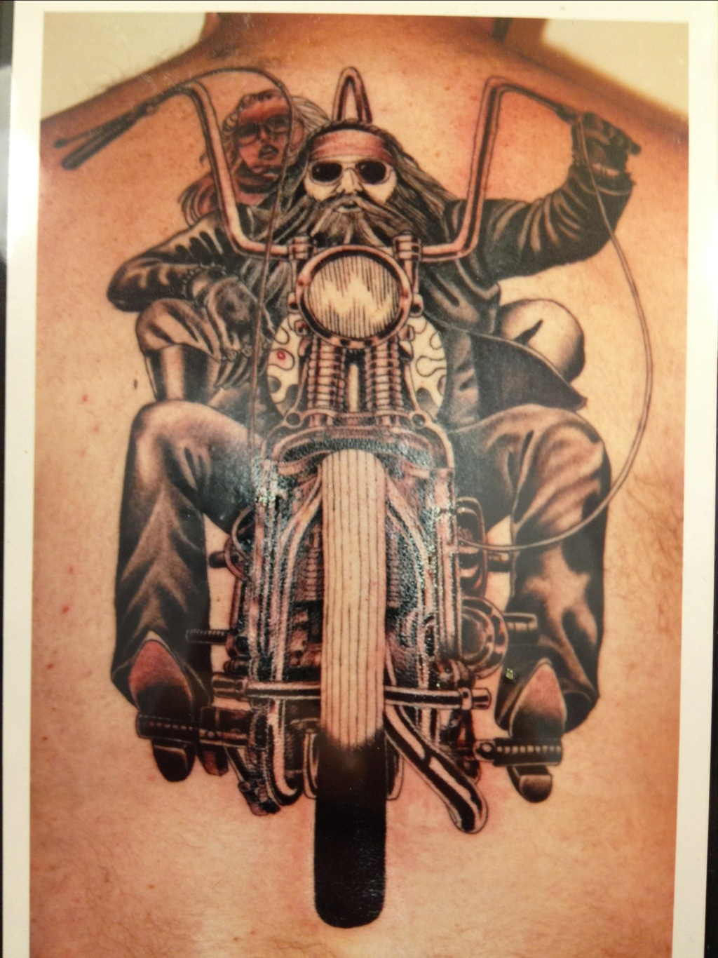biker tattoos. Black Bedroom Furniture Sets. Home Design Ideas